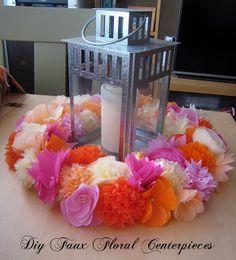Tissue paper flower wreaths