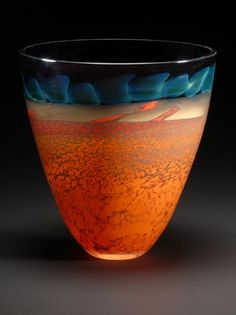 "DESERT SERIES BOWL approx. 8"" tall 8"" dia. Main Glass Studio Pinned from mainglass.com"