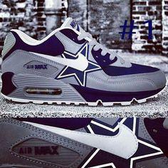 Dallas Cowboys custom Nike Air Max by Vetti Clothing, vetticlothing for custom orders Cowboy Shoes, Cowboy Gear, Cowboy Outfits, Dallas Cowboys Shoes, Dallas Cowboys Football, Dallas Cowboys Women, Nfl Dallas, Hypebeast, Athleisure