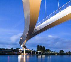 Nescio Bridge, Amsterdam, The Netherlands, 2005 designed by Wilkinson Eyre Architects/Arup