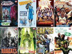 NBA comic covers