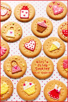 girly icing cookies