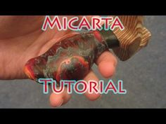 How I make paper micarta the easy and clean way, no gloves needed - YouTube