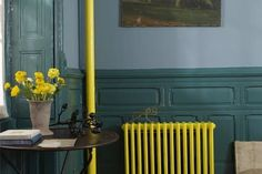 yellow radiator and pipe