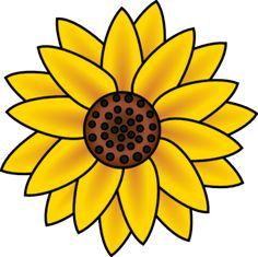 Sunflower clip art - vector clip art online, royalty free & public domain