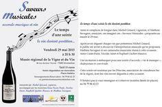 Montmélian - Savoie - France : Musée régional de la Vigne et du Vin : soirée musicale et dégustation avec les Guides du Patrimoine des Pays de Savoie http://www.gpps.fr/Guides-du-Patrimoine-des-Pays-de-Savoie/Pages/Site/Visites-en-Savoie-Mont-Blanc/Savoie-Propre/Caeur-de-Savoie/Montmelian-Musee-de-la-Vigne-et-du-Vin