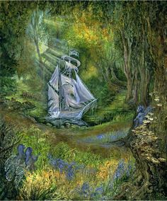 """""""The Lost Ship 1"""" par Josephine Wall"""