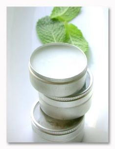 Homemade Winter Lip Balm made with coconut oil.