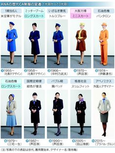 Historical CA Unifrom of All Nippon Airways