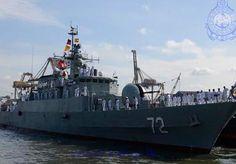 Iranian Navy frigate Alborz.