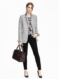 longer, relaxed light colored blazer