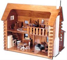 Doll House Kits - Creekside Log Cabin Doll house - 539