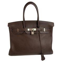 Sacs à main Hermès Hermès Cuir Marron ref.176916 - Joli Closet