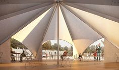 the maidan tent for refugees would be divided into eight sectors to serve as a public and organized common area for the refugee camp in ritsona, greece Membrane Structure, Shade Structure, Refugee Crisis, Refugee Camps, Affordable Housing, Common Area, Pop Up, Europe, Gallery