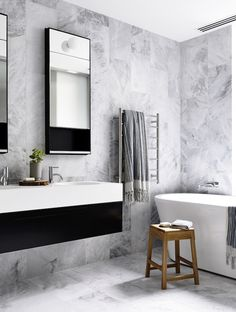 Bathroom Design In Black, White & Grey | Dust Jacket | Bloglovin'