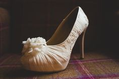 Handcrafted chiffon and lace shoes by Hassall. Photography by www.s6photography.co.uk