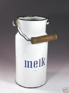 "Vintage Dutch Milk Carrier, ca. 1930, this is why people in Grand Rapids pronounce ""Milk"" Melk."