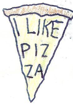 i like pizza temporary tattoo