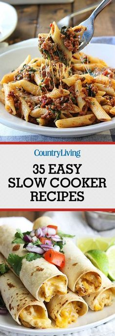 Easy Slow Cooker Recipes for Busy Nights - Best Crock Pot Recipes Crock Pot Food, Crockpot Dishes, Crock Pot Slow Cooker, Slow Cooker Recipes, Crock Pots, Fast Crock Pot Recipes, Slow Cooker Dinners, Great Recipes, Healthy Recipes