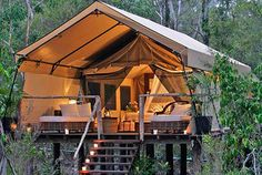 Glamping it up in this tent.see more about this glamping location! Camping never looked so good! Outdoor Fun, Outdoor Spaces, Outdoor Living, Tent Living, Outdoor Lounge, Outdoor Retreat, Backyard Retreat, Outdoor Entertaining, Outdoor Ideas