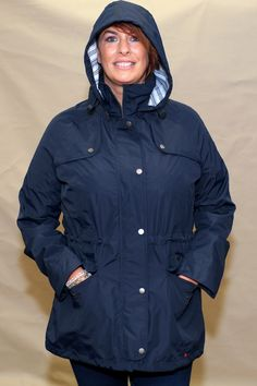 2acdebd4 Barbour Trevose Jacket in NAVY ladies waterproof coat. Barbour Trevose  Jacket in NAVY LWB0321NY91 ladies waterproof coat from Smyths Country Sports