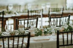 Maddie and David's cottage wedding is a stunning blend of cozy and chic with tons of whimsical touches. Cottage Wedding, Romantic Cottage, Shabby Chic Homes, David, Table Decorations, House Styles, Home Decor, Decoration Home, Room Decor
