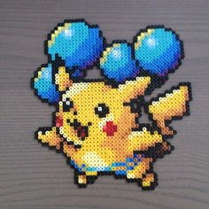 Pikachu perler beads by tessaj90