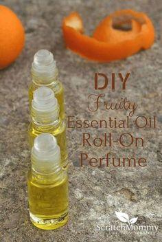 DIY Fun Fruity Essential Oil Perfume Roll-On Recipe