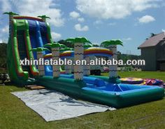 Giant inflatable double lane slip slide,commercial grade inflatable water slides,inflatable water slide for kids and adults $100~$1600