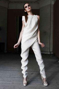 Beautifully draped jumpsuit - fluidity in fashion; design details // Ситник Екатерины