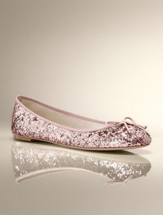 Talbots - Jazzy Glitter Ballet Flat | | Medium. For the dancing portion of the wedding.  Saved 40% off!