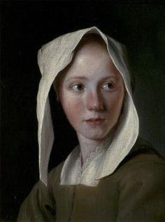 """kundst: """"Michael Sweerts (Be. 1618-1664) Portrait of a girl (1650 …?) Olie op doek (43.5 × 36.5 cm) """""""
