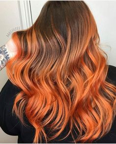 Tired of your old hair color? Take a look at this hottest hair color by 🔥🔥🔥 YES or NO? Hot Hair Colors, Cool Hair Color, All Hairstyles, Pretty Hairstyles, Inspo Cheveux, Flame Hair, Natural Hair Styles, Long Hair Styles, Hair Brained
