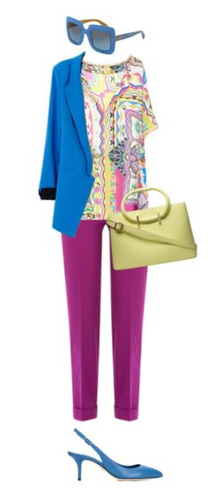 Pure summer looks best in a very muted yellow. It's almost grey. However, pure summers really need some brighter colors, so be sure to combine this color with some jewel tones. I've styled this outfit with a brighter blue and rich violet.  Have fun and wear what you love!  Jen Thoden