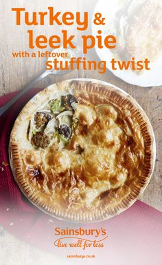 Everybody loves a pie, and this extra tasty turkey and leek pie with stuffing will make use of all of your Christmas leftovers, and make the best Boxing Day dinner.