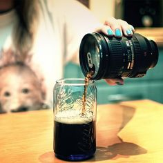 Fancy - Nikon Lens Flask & Mug