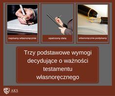 Podstawowe warunki ważności testamentu własnoręcznego- schemat.  | testamenty24.pl  Dziś przedstawiam raz jeszcze- tym razem w ramach schematu– podstawowe warunki ważności testamentu własnoręcznego.