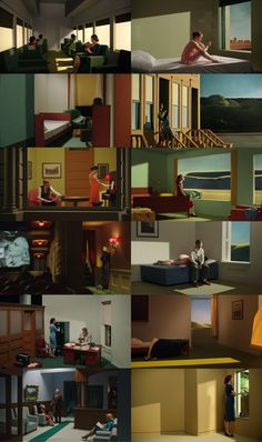 Shirley, un voyage dans la peinture d'Edward Hopper - Gustav Deutsch (Autriche) - 2013 Paint Photography, Conceptual Photography, Edward Hopper Paintings, Color Script, Film Inspiration, Theatre Design, 2d Art, Light Art, Installation Art