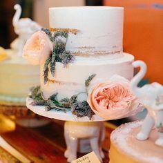 @brooklynbaker - Naked Wedding Cake