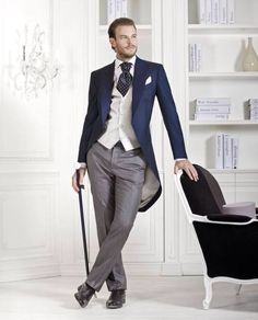 2016 Custom made Italian Tailcoat Black Morning suit Wedding Suits For Men Best man Tuxedos 3 Pieces Suits(Jacket+Pants+vest) Groom Tuxedo, Tuxedo Suit, Black Tuxedo, Tuxedo For Men, Morning Coat, Morning Suits, Dapper Gentleman, Gentleman Style, Sharp Dressed Man