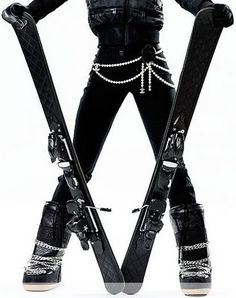 Chanel -I would ski if I could wear this outfit!
