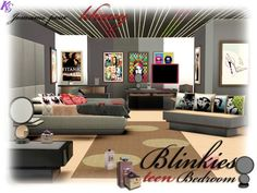 Blinkies bedroom by Jomsims - Sims 3 Downloads CC Caboodle