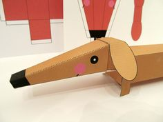 (8) Name: 'Paper Crafts : Dachshund Dog 3-D Paper Craft Printable