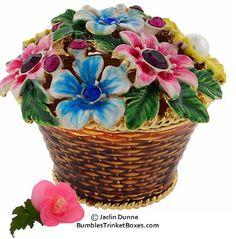Trinket Box: Corbeille de fleursTrinket Box
