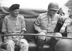 Bernard Montgomery and George Patton near Palermo, Sicily, Italy, 28 Jul 1943. (US National Archives)