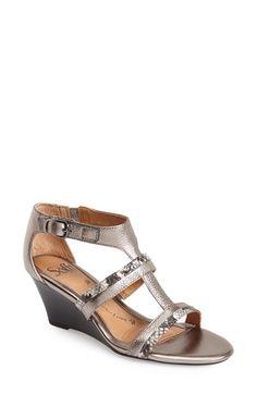 9ac3895a285 Söfft  Pippa  Leather T-Strap Wedge Sandal (Women)