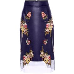 ALEXANDER MCQUEEN | Trousers & Skirts | Glove Leather Floral Skirt