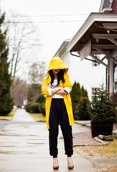 Yellow Raincoat.... I really would love one :)
