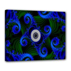 """Blue Eye Looking For Love Canvas 20"""" x 16"""" (Stretched)"""