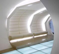 Futuristic entrance
